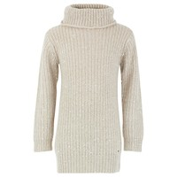 Beige Roll Neck Dress