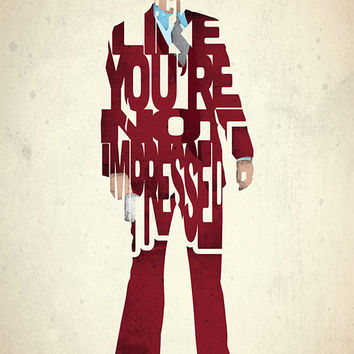 Ron Burgundy typography art print poster based on a quote from the movie Anchorman