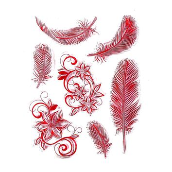 CCINEE Color Feather Style One Sheet Stamp VASE Design Seal For DIY Scrapbooking/Card Making/ Decoration Supplies