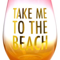 Slant Collections Take Me to the Beach Stemless Wine Glass | Nordstrom