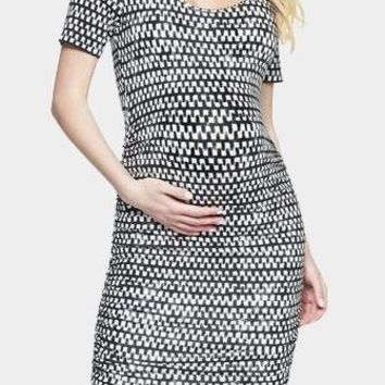 Bump Scoop Neck Midi Maternity Dress