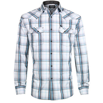 Cody James® Men's Slim Fit Plaid Long Sleeve Western Shirt