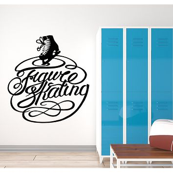 Vinyl Wall Decal Figure Skating Winter Sport Olympic Games Stickers Mural (g2763)
