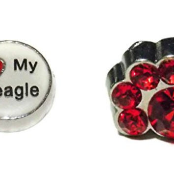 Beagle Dog Lover 2 Charm Pack - Old School Geekery TM Brand Lockets and Charms - Small Charms for Glass Lockets