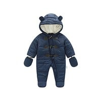 Winter Children Baby Clothes Boys Girls Rompers Warm Thickening Hooded Infant for born Clothing Kid Outwear