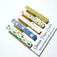 Clothespin Magnets   Kitchen Clips   Dorm Magnets   Neodymium Magnets   Decoupaged Magnets   Magnet Clips   Blue Magnets   Cute Magnets