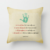 I will uphold you! Throw Pillow by Peter Gross