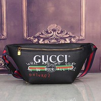 VONE05I Gucci Women Leather Purse Waist Bag Single-Shoulder Bag Crossbody
