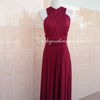 Gala Dinner Dress Christmas Party Dress New Year Dress Bridesmaids Dress Maroon Infinity Dress Evening Dress Cocktail Dress Party Dress