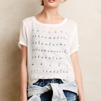 Letter-Perfect Mesh Tee by Dolan Left Coast Black & White