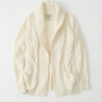 Womens Cable Cardigan | Womens Tops | Abercrombie.com