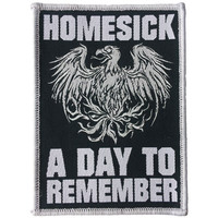 A Day To Remember Men's Homesick Woven Patch Black
