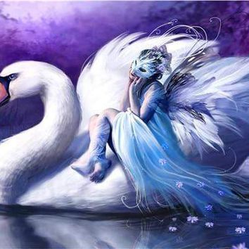 5D Diamond Painting Swan and the Masked Angel Kit