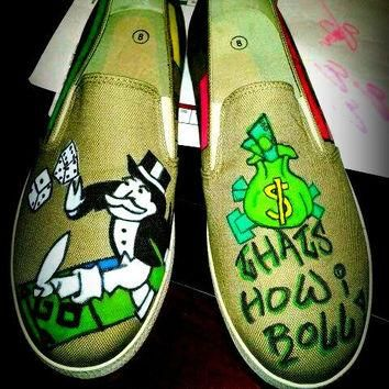 MONOPOLY SHOES vANS STYLE
