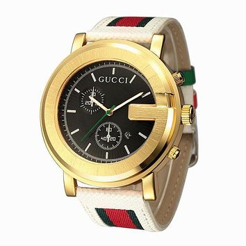 GUCCI Trending Woman Men Quartz Movement Watch Stylish Wrist Watch I