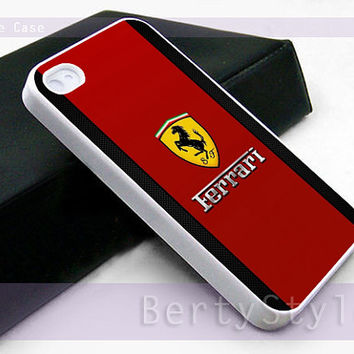 Iphone Case - Iphone 4 Case - Iphone 5 Case - Samsung s3 - samsung s4 - Ferrari logo - Photo Print on Hard Plastic