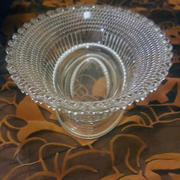 Pressed Glass Oval Serving Bowl