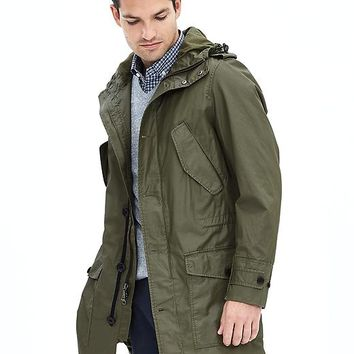 Banana Republic Mens Lightweight Hooded Parka