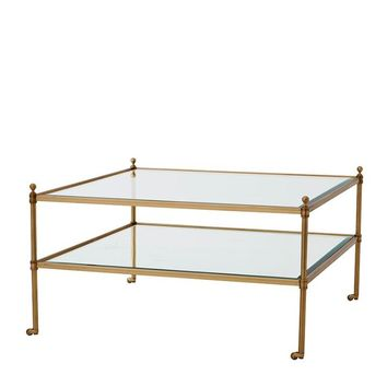 Brass Coffee Table On Wheels | Eichholtz Aubrey