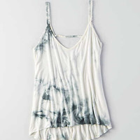 Don't Ask Why Strappy Hi-Low Tank, Navy