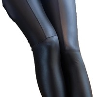 Sexy Faux Leather  Stretchy Slim Pencil Pants