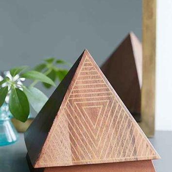 ARTS THREAD X UO Make It Wooden Pyramid Jewelry Box- Brown One