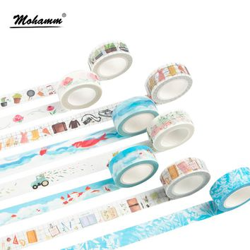 7M Creative Cute Travel Diary Decorative Scotch Adhesive Washi Tape Diy Scrapbooking Masking Tape School Office Supply Papelaria