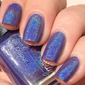 Nail polish  Devotion purple linear holographic by EmilydeMolly