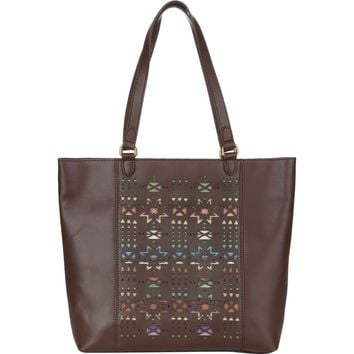 Pendleton Laser Cut Leather Tote