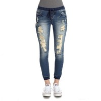 Wallflower Slim Denim Jogger Capris