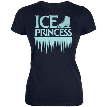 PEAPGQ9 Ice Princess Figure Skating Juniors Soft T Shirt
