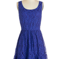 ModCloth Mid-length Sleeveless A-line Tendril Moments Dress