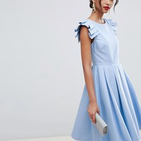 Ted Baker Frill Midi Length Dress at asos.com