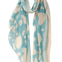 TinoTrade Pastel Cow Spots Pattern Scarves Cute Animal Print Shawl Scarf