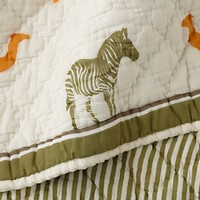 When in Roam Crib Quilt in Sale Bedding | The Land of Nod