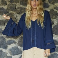 MYSTIC BLOUSE NAVY