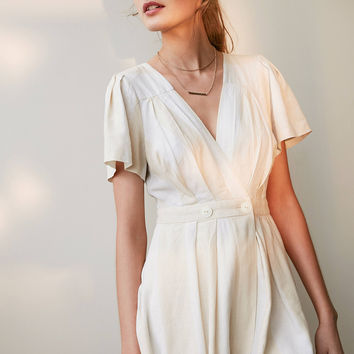 Cooperative Cabana Striped Surplice Romper | Urban Outfitters