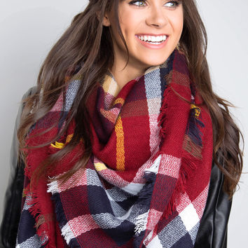 Gotta Be Plaid Blanket Scarf