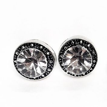 ON SALE - Marcasite Zirconia Halo Stud Earrings