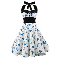 50s 60s 3D Floral Sexy Party Dress
