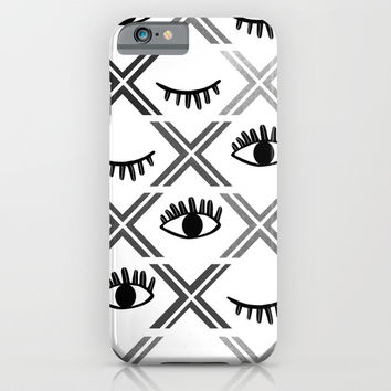 Original Black and White Eyes Design iPhone & iPod Case by oursunnycdays