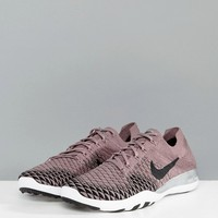 Nike Training Free Flyknit Trainers In Taupe at asos.com