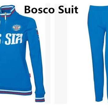 New bosco sport Russian national team Winter Olympics Sochi forward russia for female jacket women's sports clothing coat brand