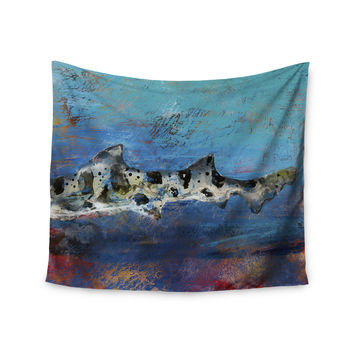 "Josh Serafin ""Sea Leopard"" Blue Shark Wall Tapestry"
