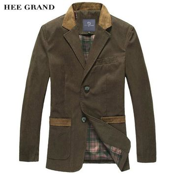HEE GRAND Men's Casual Blazers 2017 Hot Sale Leisure Suit Fashion Slim Fitting Blazers Single Breasted Costume Homme MWX351