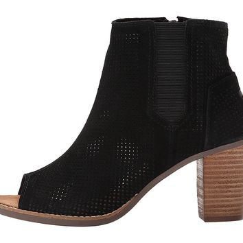 Toms Womens Suede Perforated Booties