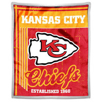 Kansas City Chiefs NFL Mink Sherpa Throw (50in x 60in)
