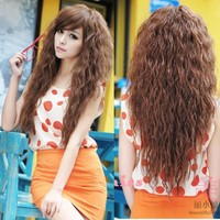 NewWomens Fashion Sexy long Full Curly Wavy Hair Wigs BUSC Cosplay Party 3Colors