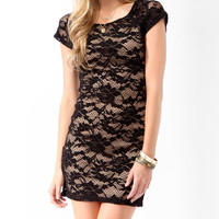 Textured Lace Bodycon Dress