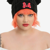 Disney Minnie Mouse Pom & Bow Beanie